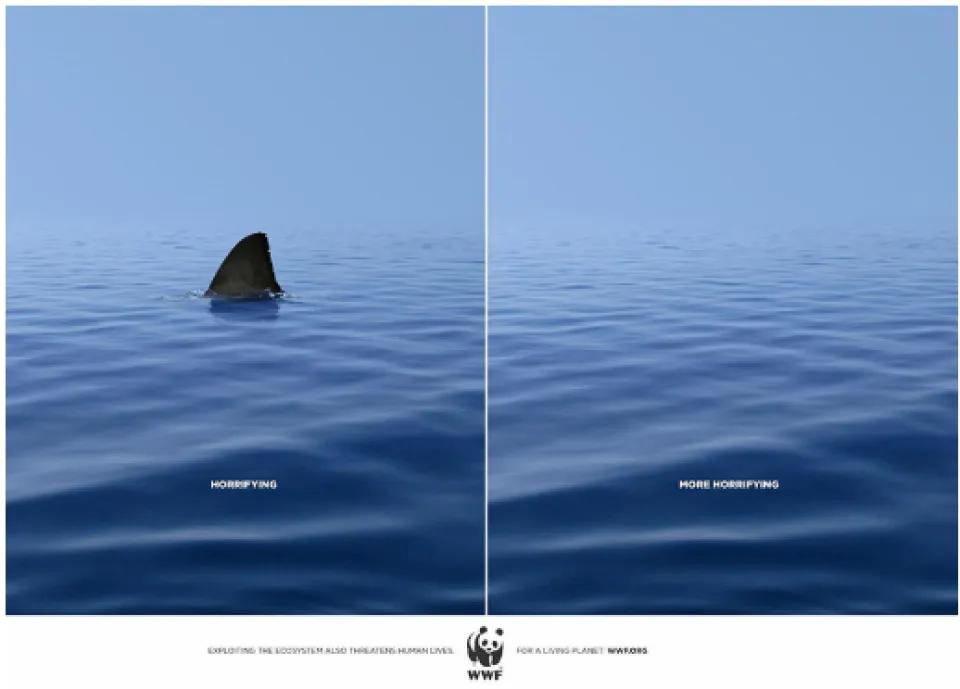 """WWF """"Shark"""" kampaania, DDB Agency. Juuni 2010."""